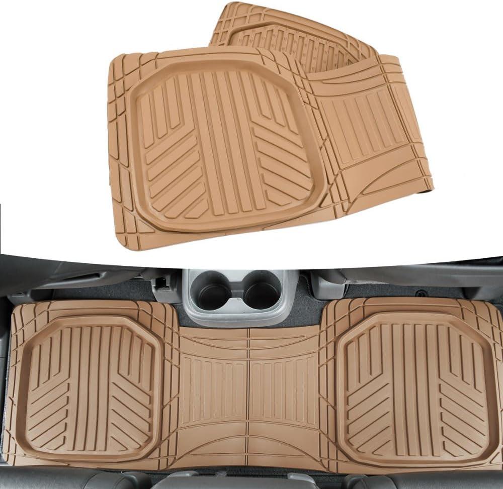 Rubber Car Mats GL 0240 Alfombrillas de Goma con Clips de Montaje T 4 Piezas