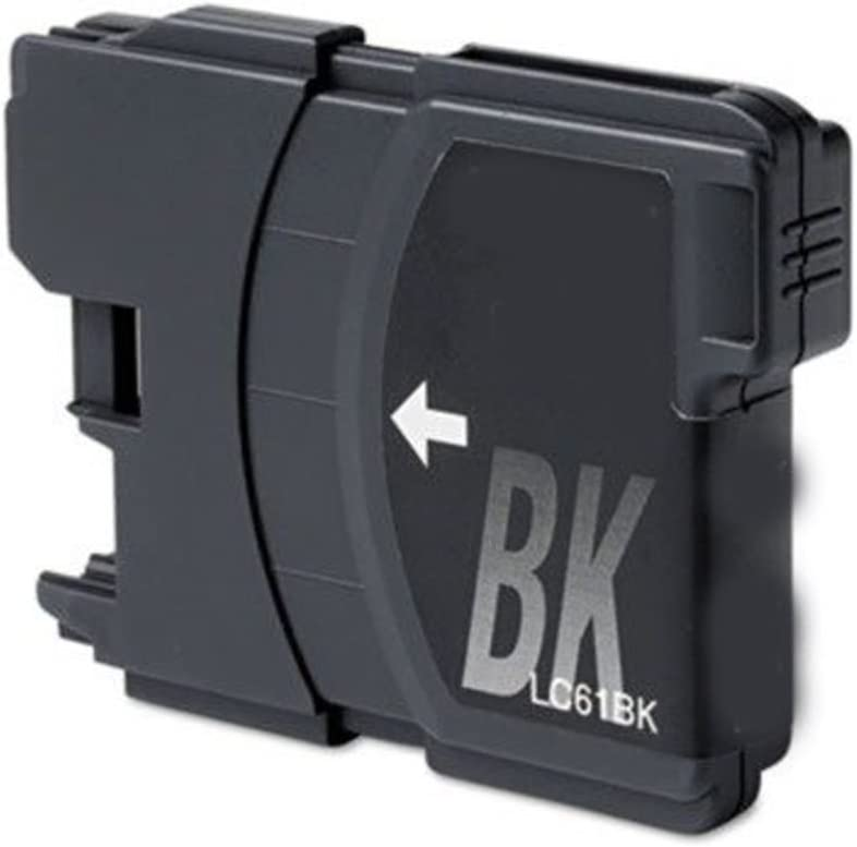 Black, 1 Pack Generic Compatible Ink Cartridge Replacement for Brother LC-61