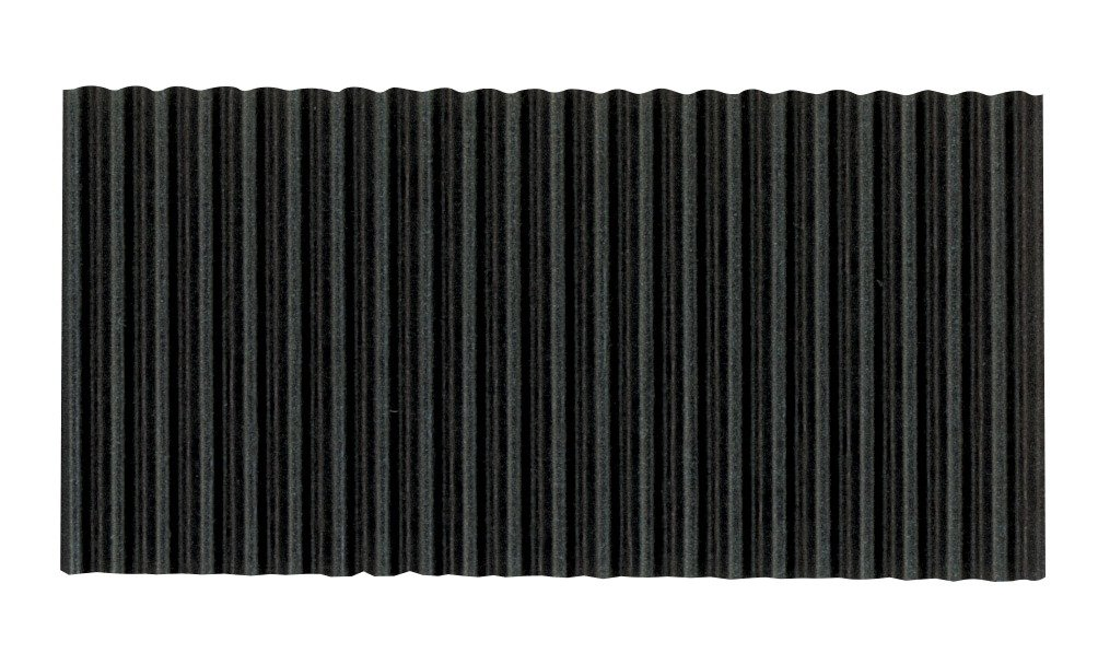 Corobuff Solid Color Corrugated Paper Roll, 48 Inches x 25 Feet, Black