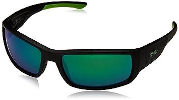 Smith Survey Polarized Sunglasses Matte Black/Poarized Green Mirror, One Size - Mens