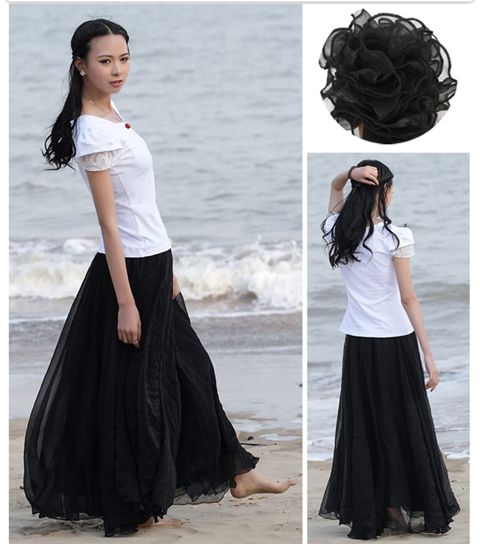 product floors party beach pool floor mohani black length skirt skirts