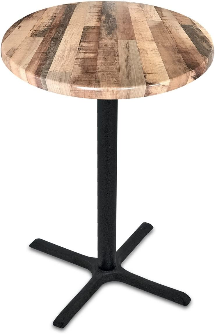 Holland Bar Stool Co. OD211-3042BWOD30RRustic 42 Tall OD211 Season 30 Diameter Rustic Top Indoor Outdoor Table