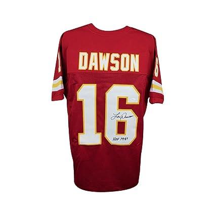Len Dawson HOF Autographed Kansas City Chiefs Custom Red Football Jersey -  JSA COA 10f2bb125