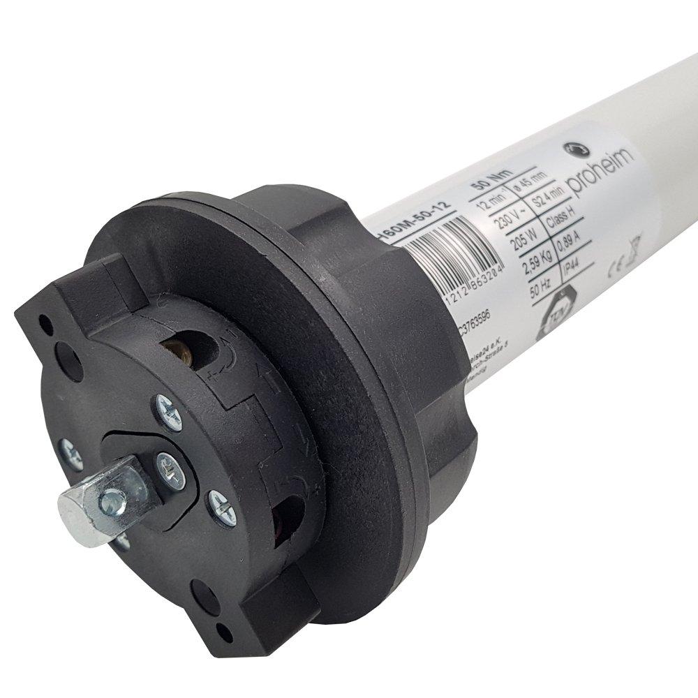 PROHEIM Markisenmotor 50Nm inkl. Adapter 78 mm rund Rohrmotor Markiesenantrieb für nahezu alle Markisen Rohrmotor rund für Markisen mit Einer Ausladung von bis zu 5 Meter 2f2e0a