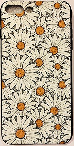 Soft Gel Skin Case Fits Apple iPhone 7 Plus/8 Plus Embossed White Daisy Flower ()