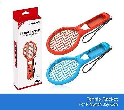 Raqueta de Tenis Twin Pack para N-Switch Joy-con Controladores para Mario Tennis Games: Amazon.es: Juguetes y juegos