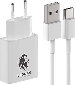 LEONAS Cargador de pared con cable de carga USB-C USBC Adaptador ...