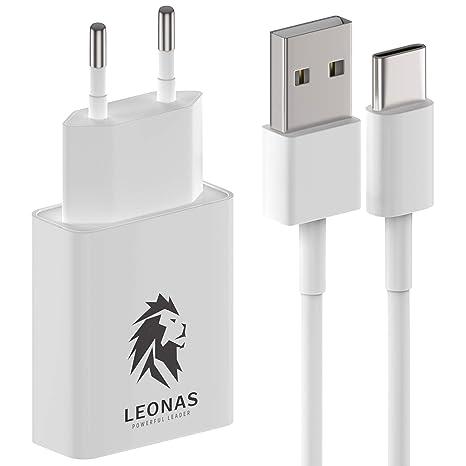 LEONAS Cargador de pared con cable de carga USB-C USBC Adaptador de corriente de carga rápida con cable de datos Cargador con cable de carga rápida ...