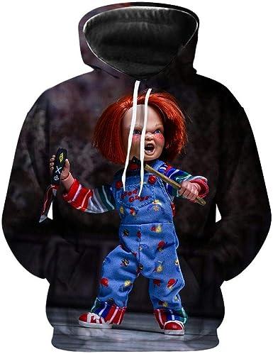 Sudadera con Capucha Suéter De Cosplay 3D Chucky-Figura De ...