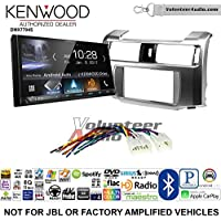Volunteer Audio Kenwood DMX7704S Double Din Radio Install Kit with Apple CarPlay Android Auto Bluetooth Fits 2010-2013 Non Amplified Toyota 4Runner