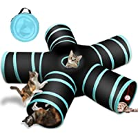 Cat Tunnel Tube Toy, AUCD 5 Ways Foldable Long Tunnel Bed Toy Polyester Fabrics Hide Tunnel Interactive Playing Toys for…