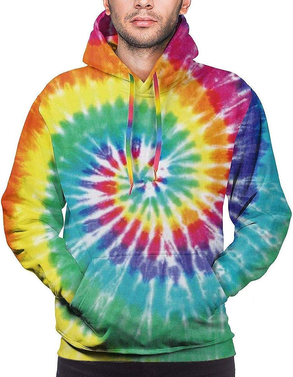 Pastel Rainbow Tie Dye Sudaderas con Capucha para Hombre ...