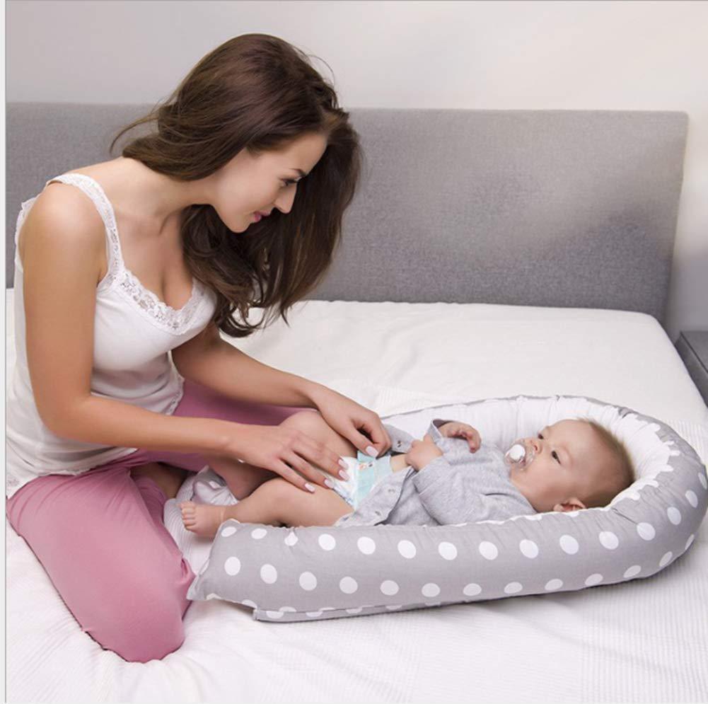100/% Baumwollkrippe-Matratze Geeignet f/ür Schlafzimmer//Reise//Auto Babynest Nestchen,Tragbares Weiches Atmungsaktives Baby-Kuschel-Nest Baby-Schutzkissen BY-2012