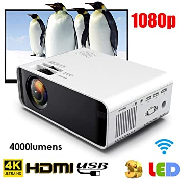 Fishlor HD Projector 1080P, Professional HD Bluetooth Proyector ...