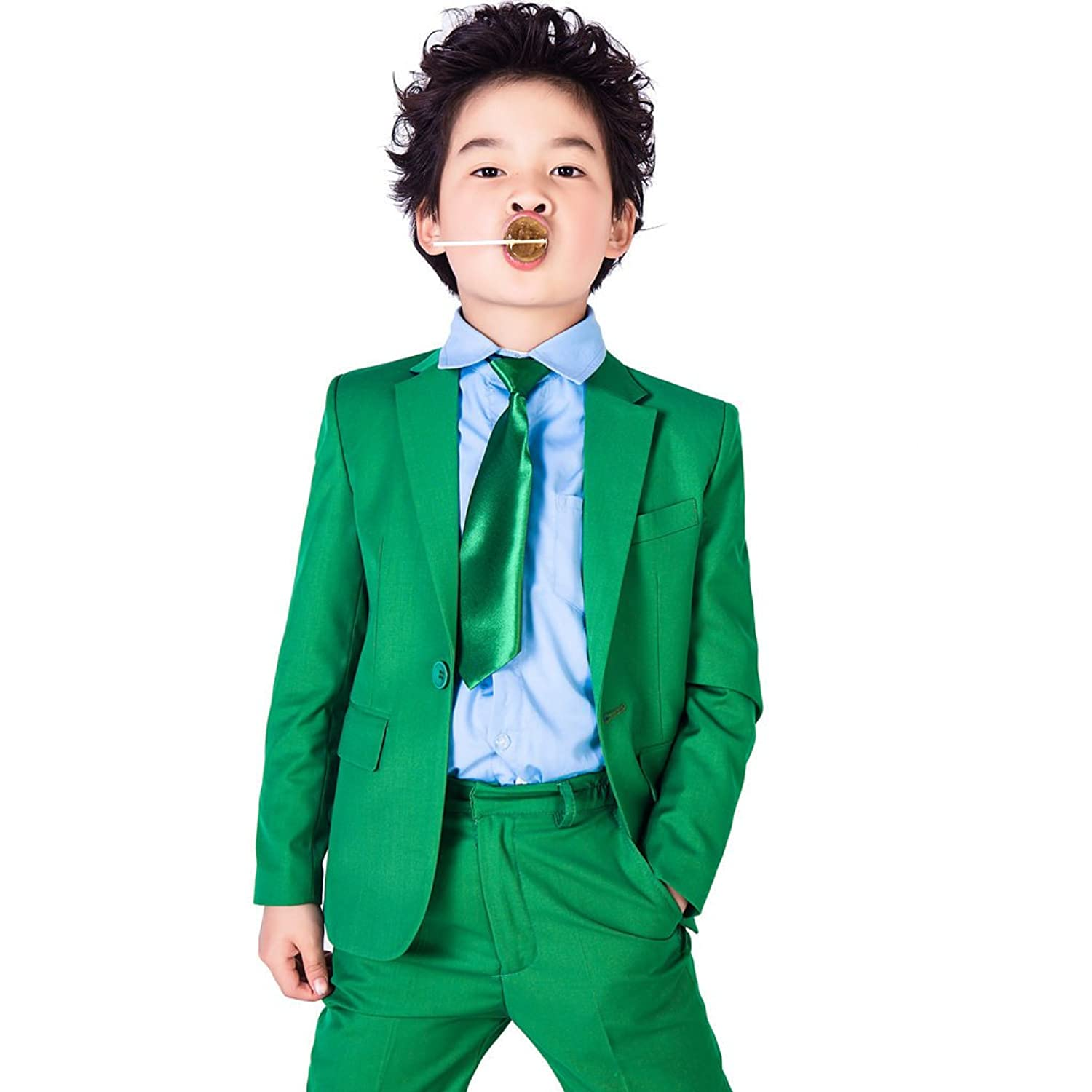 Amazon.com: XoMoFlag Boys\' Flower Formal Suit Stage Wear Wedding ...