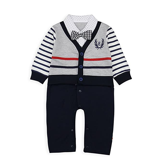 Amazon.com: Baby Boy Romper, 1pcs bebé Gentleman Formal ...