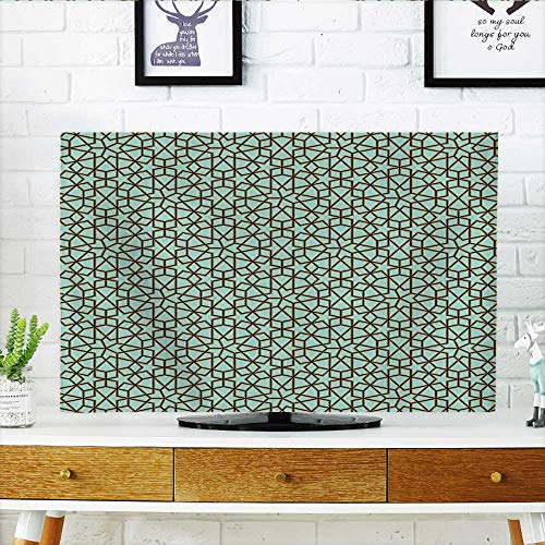Jiahonghome Protect Your TV Arabic Design Geometry Ornament Classic Interior Art Vacation Tourism Gateway Protect Your TV W36 x H60 INCH/TV 65