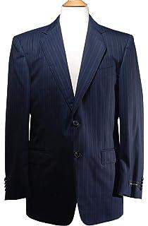 fc5083297cb57 Ermenegildo Zegna Navy Blue Pinstripes Wool Two Button Blazer Size 50C