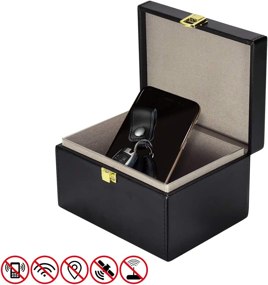 Car Keys Signal Blocker Box RFID Signal Blocker Pouch for Car Keys DDSKY Faraday Key Protector Box Double Locks