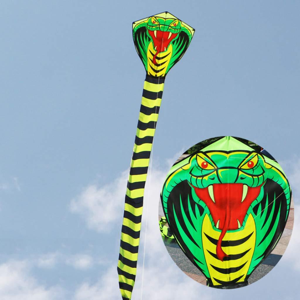 al Aire Libre Hergon Cometa de Serpiente Grande 3D con Cola Kitesurf para Uso Familiar para Adultos para ni/ños para Deportes de Playa