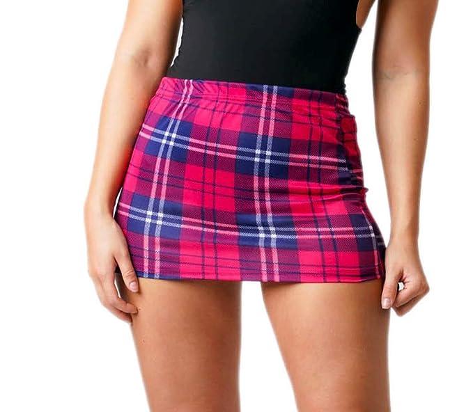 Mini Falda de tartán para Mujer, Falda Ajustada de 6 a 24 Divas ...