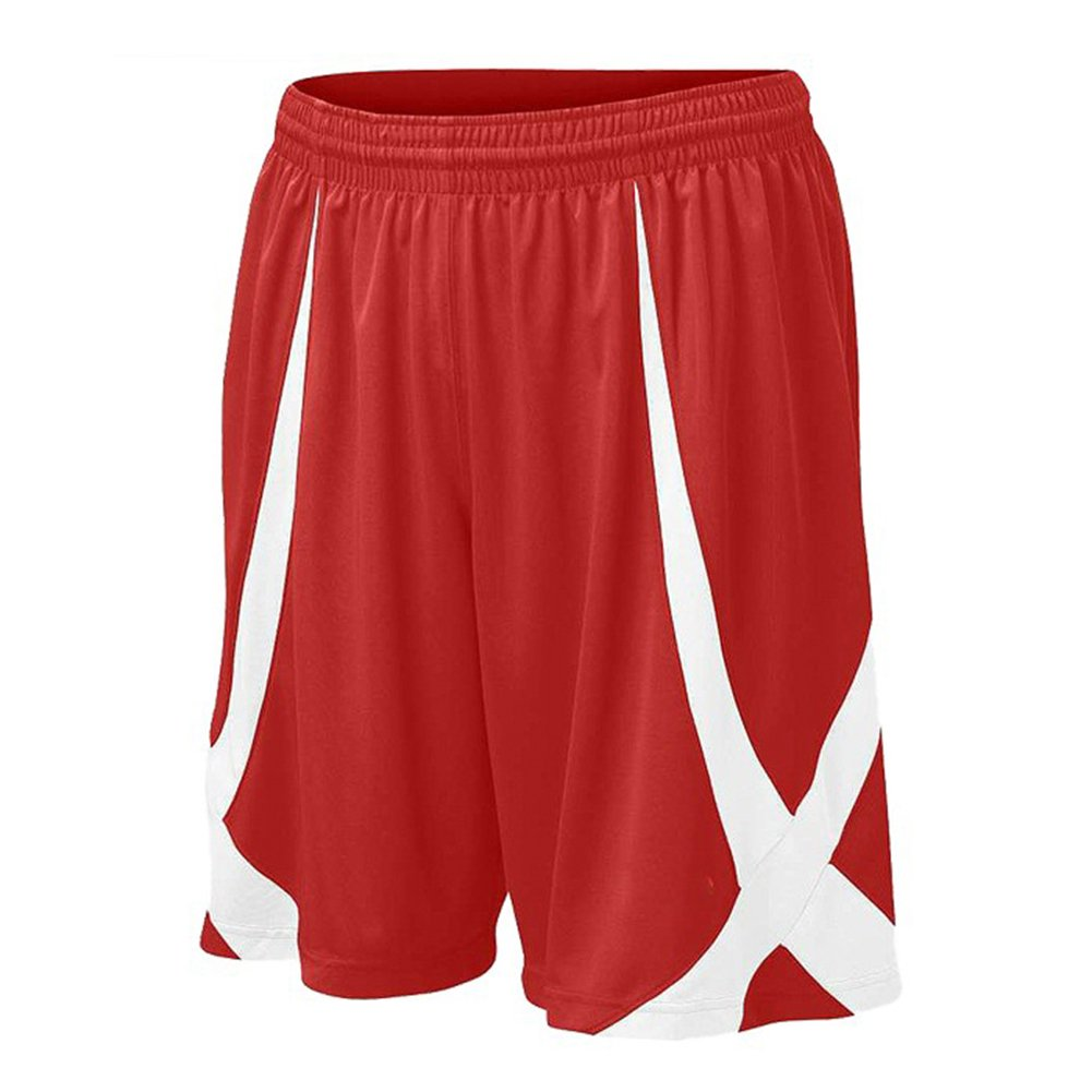 TopTie Men's Basketball Shorts, Flag football Shorts No Pockets, MMA Pro Shorts MESV-AI76716