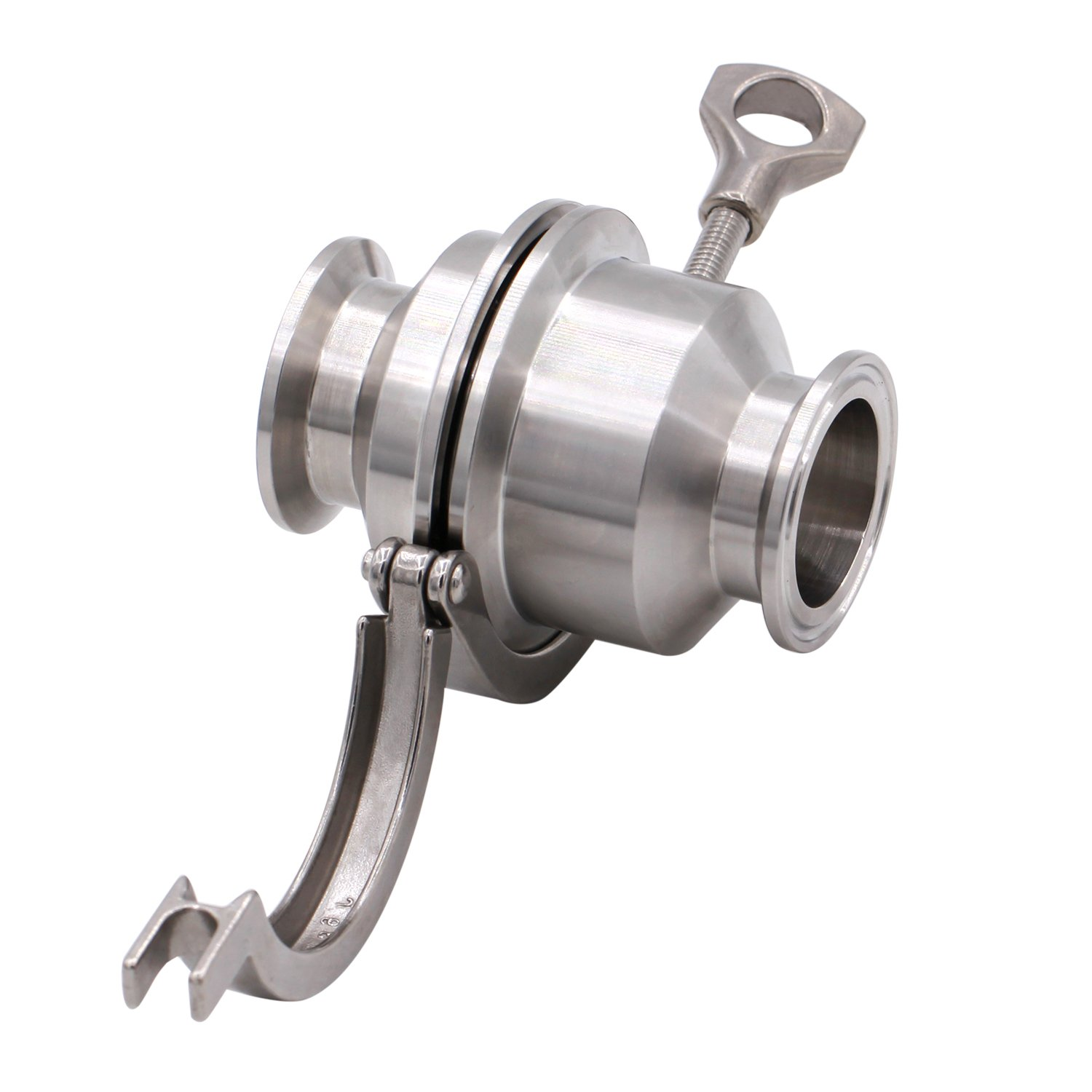 Dernord Sanitary Check Valve - One Way Flow - 1.5'' Tri Clamp Style, Stainless Steel 304, Viton Gasket (1.5'' Tri Clamp Check Valve)
