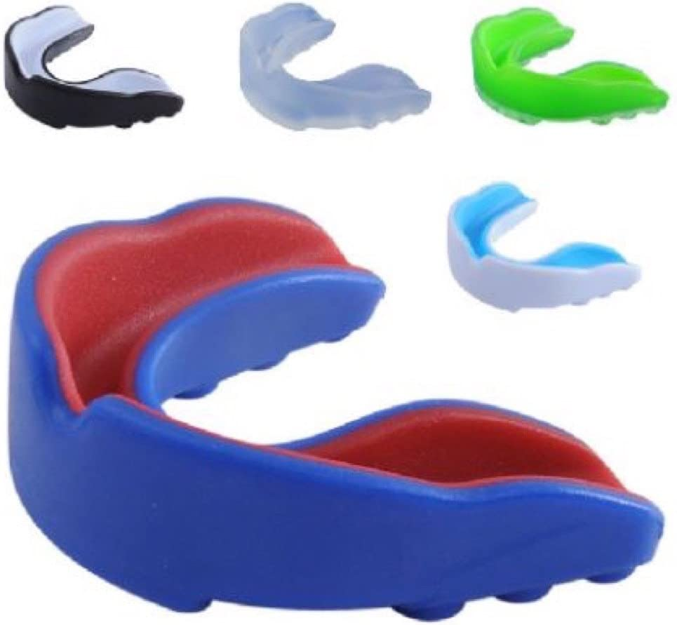 Mouth Guard Shield Case MouthPiece Boxing Basketball Gel Gum Teeth Protector