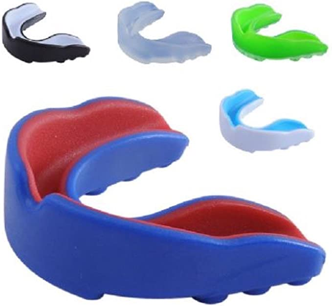 Zerone Double-Sided Mouthguard Adults Teeth Mouth Guard Sports Taekwondo Boxing Kickboxing Free Combat Athletic Protector Accessories