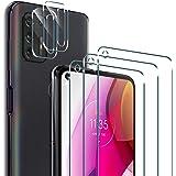 (5-Packs) PULEN 3 Packs Screen Protector with 2 Packs Camera Lens protector for Motorola Moto G Stylus 2021 [Not for Moto G s