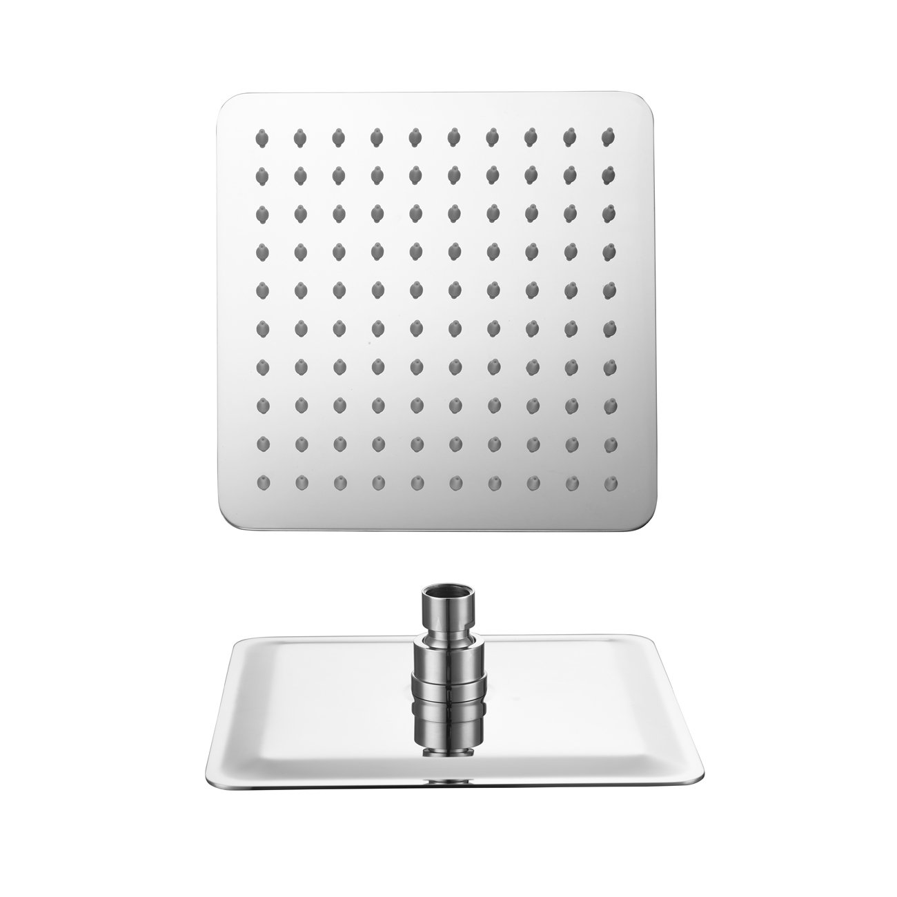 Ownace Square Polished Chrome 8 Inch Shower Head Ceiling Mount for Bathroom Set
