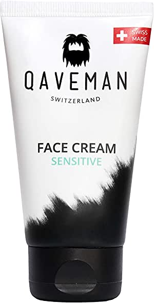 Face Cream Sensitive By Qaveman - Natural Daily Moisturiser For Men - Deep Hydrating Formula With Jojoba Seed Oil Nourishes A Man's Skin And Provides Essential Moisture Throughout The Day