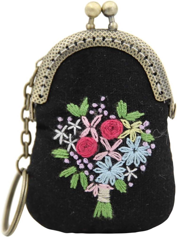 Zoylink Embroidery Starter Kit Creative DIY Pendant Necklace Key Ring Charm Cross Stitch