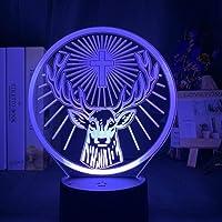 Jägermeister Ledlamp, 3D-nachtlampje, sfeervol, kleurrijk, touch-bediening, nachtlampje, met batterij, voor decoratie…
