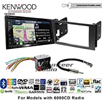Volunteer Audio Kenwood Excelon DNX694S Double Din Radio Install Kit with GPS Navigation System Android Auto Apple CarPlay Fits 2010-2011 Transit Connect