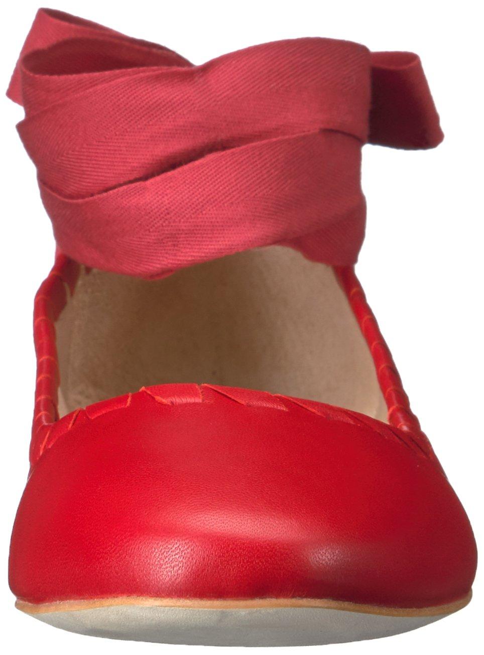 Via Spiga Women's Baylie Ballet Flat B01LA67TEC 9 B(M) US|Fireball Red Leather