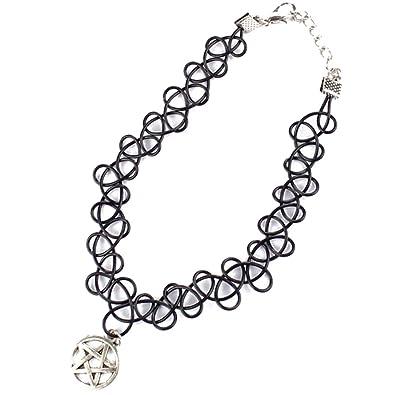 TOOGOO (R) Collar con cadena-Braga de cuello, diseño de tatuaje ...