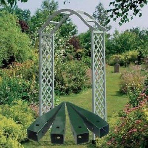 Gardman Elegant Wooden Garden Arch Sea Breeze Blue 07717 Pergola 07715 Spikes