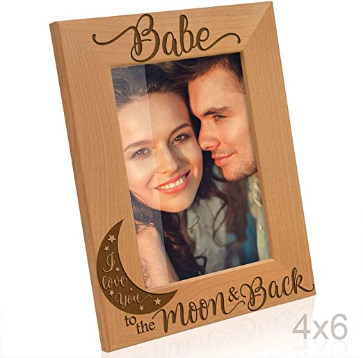 for Couple Kate Posh Our First Valentines Day Engraved Natural Wood Picture Frame First Valentines Together 4x6-Vertical for Him Valentines Day Wedding Gifts for Her 4x6-Vertical First Valentine/'s Together Valentine/'s Day Wedding Gifts