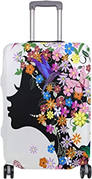 FOLPPLY Fairy Girl With Butterfly Luggage Cover Baggage Suitcase Travel Protector Fit for 18-32 Inch
