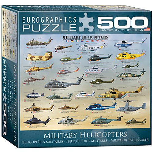 - EuroGraphics Military Helicopters Puzzle, 500-Piece