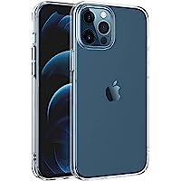 """New'C - Carcasa compatible con iPhone 12 Pro Max (6.7"""") [Ultra Transparente Silicona de Gel TPU Flexible] Carcasa de…"""