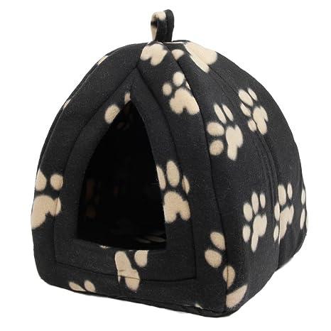 HongGXD con Lovely Paw Prints Cama para Perros de Lujo Cama para Mascotas Cat Cave Bed
