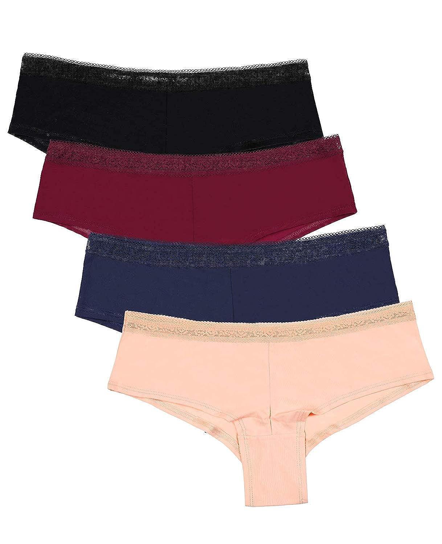 Boyshort (Nylon) Attraco Women's Rita Tiered Tankini Set Tie Front Swimwear Two Piece Swimsuit