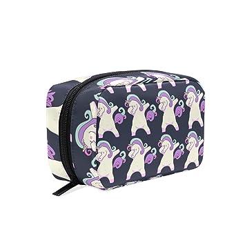 2867c12d2aba Amazon.com : Fashion Square Cosmetic Bag Unicorn Dab Dance Dabbing ...