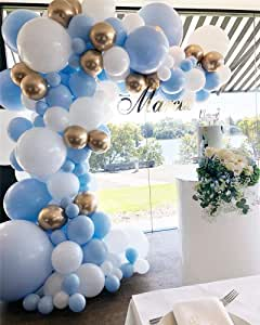 Amazon.com: Guirnalda de globos Macaron Colors, Azul: Health ...