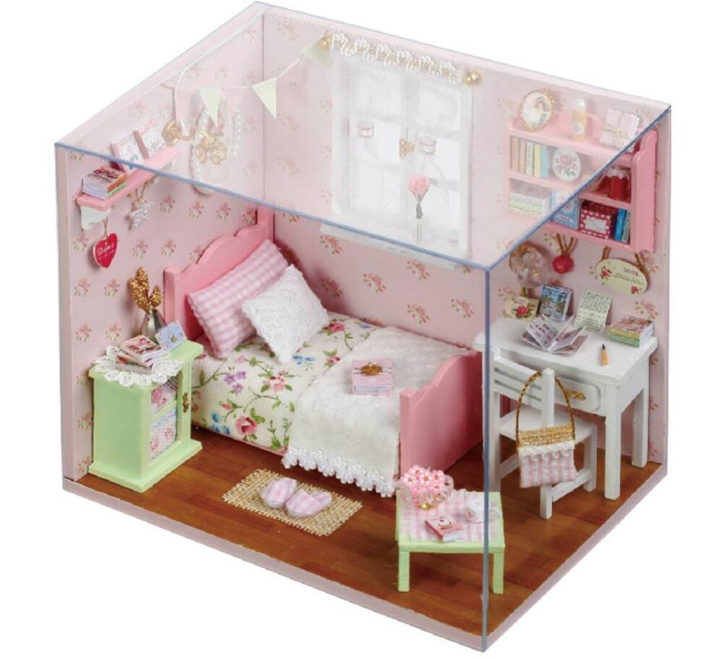 BOQIUTIA Bungalow Creativo di DIY   Casa di Modello Dell'Edificio   Gift di Giorno del Biglietto di S. Valentino   Artigianato   Abilità di Esercitazione