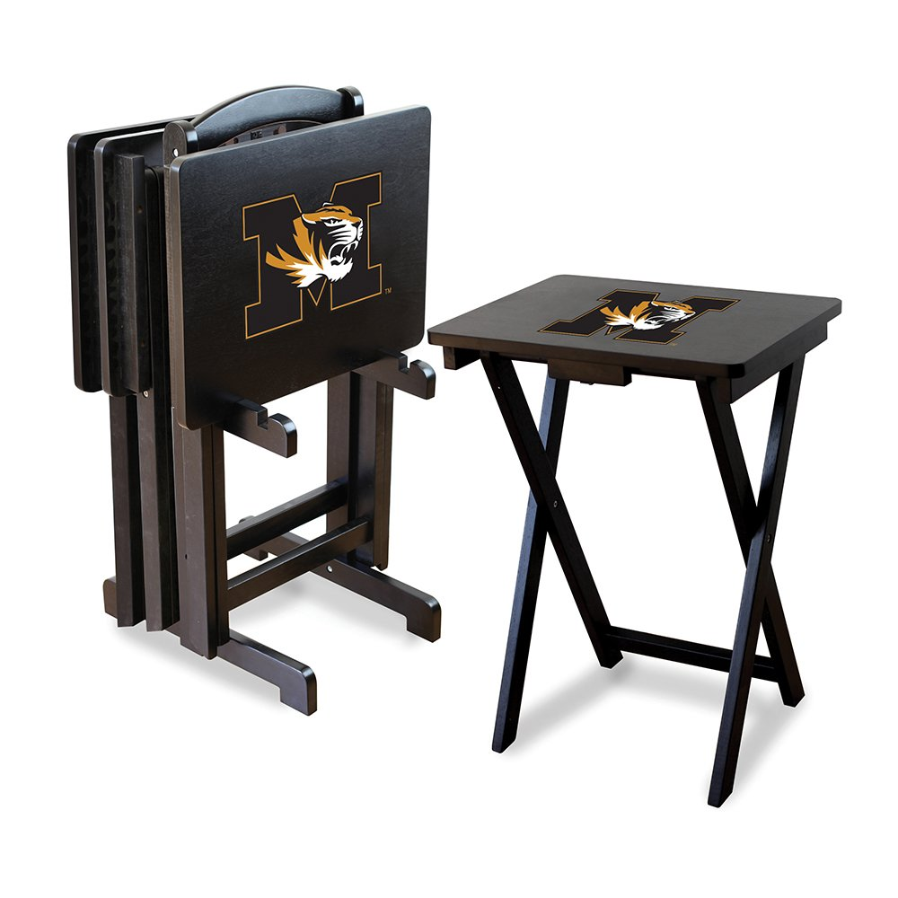 IMPERIAL INTERNATIONAL MISSOURI TIGERS TV TRAYS w/ STAND by Imperial