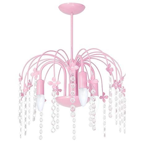 Lámpara de techo modelo Goccia3, de acero, de color rosa ...