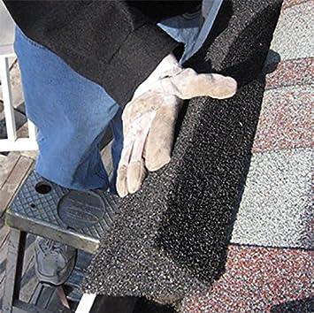 GutterStuff EZ 5-Inch K Style Foam Gutter Filter Insert 32 Feet Black